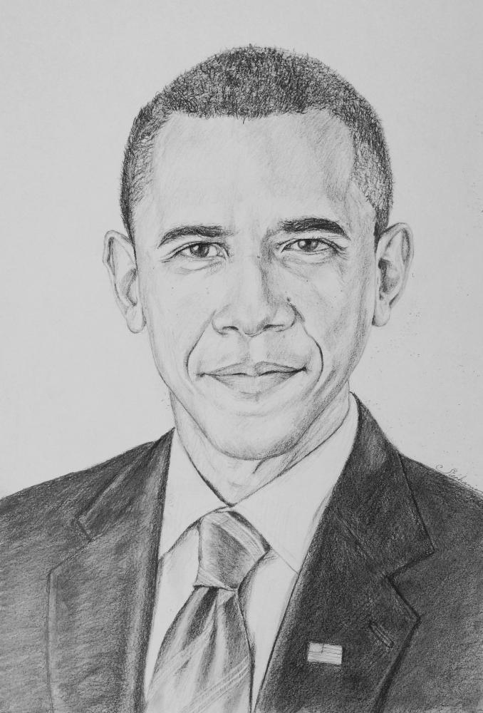 Barack Obama by crayondesoleil
